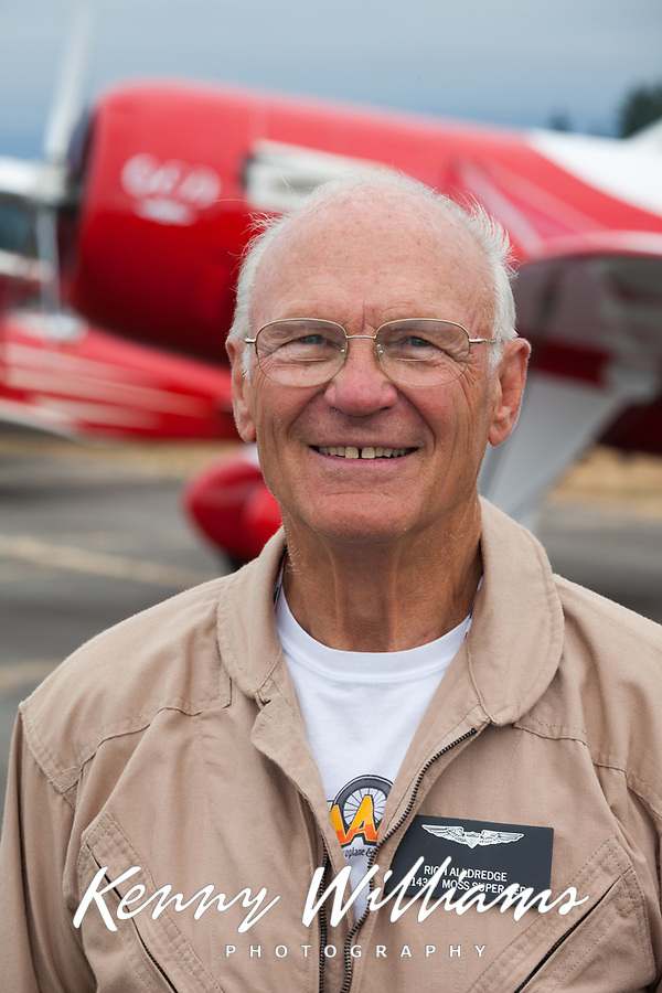 Rich Alldredge, Pilot, Gee Bee QED II Airplane, Arlington Fly-In 2015, Washington State, WA, America, USA.