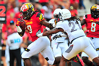 Terrapins Trey Edmunds heads to the end zone for a touchdown. Maryland routed Howard 52-13 during home season opener at Capital One Field in College Park, MD on Saturday, September 3, 2016.  Alan P. Santos/DC Sports Box