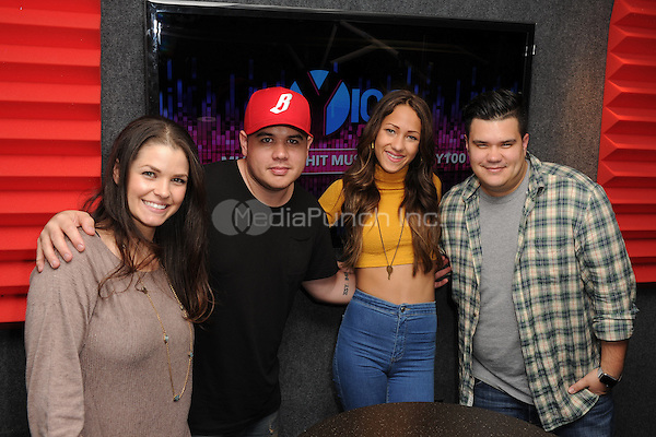 FORT LAUDERDALE, FL - DECEMBER 02: DJ Nina, DJ Mack, Skylar Stecker, and DJ Nick at Radio Station Y-100 on December 2, 2015 in Fort Lauderdale, Florida. Credit: mpi04/MediaPunch