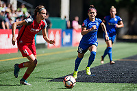 Seattle, WA - Saturday, August 26th, 2017: Nahomi Kawasumi during a regular season National Women's Soccer League (NWSL) match between the Seattle Reign FC and the Portland Thorns FC at Memorial Stadium.