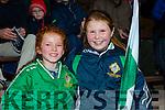 Emer Warren and Ciara Doolin cheering on the AIB Munster club SFC clash in Pairc Uí Rinn on Sunday