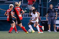 Rochester, NY - Saturday July 23, 2016: FC Kansas City forward Tiffany McCarty (20), Western New York Flash midfielder McCall Zerboni (7), Western New York Flash midfielder Lianne Sanderson (10) during a regular season National Women's Soccer League (NWSL) match between the Western New York Flash and FC Kansas City at Rochester Rhinos Stadium.