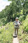 Joanie Akers Binkow K'60 hiking in Colorado