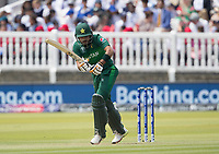 Babar Azam (Pakistan) pushes into the on side during Pakistan vs Bangladesh, ICC World Cup Cricket at Lord's Cricket Ground on 5th July 2019