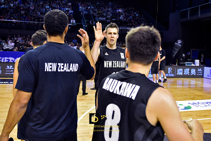 New Zealand Tall Blacks&rsquo; Tom Abercromble, FIBA World Cup Basketball Qualifier - NZ Tall Blacks v Syria at TSB Bank Arena, Wellington, New Zealand on Sunday 2 2018. <br /> Photo by Masanori Udagawa. <br /> www.photowellington.photoshelter.com