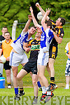 Kevin Enright and Ger O'Sullivan  Shannon Rangers in action against William Kirby and TJ Hogan Austin Stacks in the First Round of the Kerry Senior Football Championship at O'Rahilly Park Ballylongford on Sunday.
