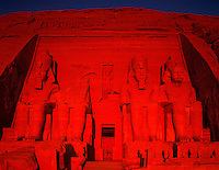 Huge Statues of Ramsses II, Abu Simbel, Egypt   Sun Temple of Ramses II  Nile River/Lake Nasser Ancient Egyptian Temple