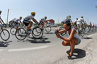 A fan photograph the peloton of cyclists during the stage of La Vuelta 2012 between Logroño and Logroño.August 22,2012. (ALTERPHOTOS/Paola Otero) /NortePhoto.com<br /> <br /> **SOLO*VENTA*EN*MEXICO**<br /> **CREDITO*OBLIGATORIO**<br /> *No*Venta*A*Terceros*<br /> *No*Sale*So*third*<br /> *** No Se Permite Hacer Archivo**<br /> *No*Sale*So*third*