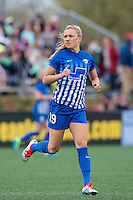 Allston, MA - Sunday, May 1, 2016:  Boston Breakers midfielder Kristie Mewis (19) in a match against the Portland Thorns FC at Harvard University.