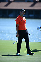 Jon Rahm (ESP) reacts to missing a putt on 12 during round 2 of the World Golf Championships, Dell Technologies Match Play, Austin Country Club, Austin, Texas, USA. 3/23/2017.<br /> Picture: Golffile | Ken Murray<br /> <br /> <br /> All photo usage must carry mandatory copyright credit (&copy; Golffile | Ken Murray)
