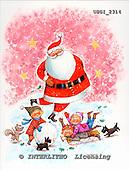 GIORDANO, CHRISTMAS SANTA, SNOWMAN, WEIHNACHTSMÄNNER, SCHNEEMÄNNER, PAPÁ NOEL, MUÑECOS DE NIEVE, paintings+++++,USGI2314,#X#
