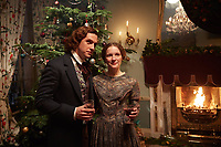The Man Who Invented Christmas (2017) <br /> Dan Stevens &amp; Morfydd Clark<br /> *Filmstill - Editorial Use Only*<br /> CAP/KFS<br /> Image supplied by Capital Pictures