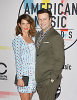 LOS ANGELES, CA - OCTOBER 09: Taran Killam (L) and Cobie Smulders attends the 2018 American Music Awards at Microsoft Theater on October 9, 2018 in Los Angeles, California.  <br /> CAP/MPI/IS<br /> ©IS/MPI/Capital Pictures