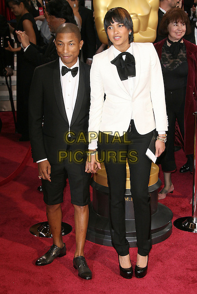 02 March 2014 - Hollywood, California - Pharrell Williams, Helen Lasichanh. 86th Annual Academy Awards held at the Dolby Theatre at Hollywood &amp; Highland Center. <br /> CAP/ADM<br /> &copy;AdMedia/Capital Pictures
