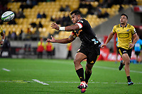 Chiefs&rsquo; Tumua Manu in action during the Super Rugby - Hurricanes v Chiefs at Westpac Stadium, Wellington, New Zealand on Saturday  27 April 2019. <br /> Photo by Masanori Udagawa. <br /> www.photowellington.photoshelter.com