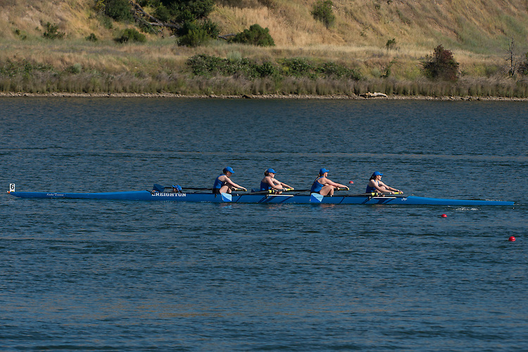 May 14, 2016; Gold River, CA, USA; I Four Creighton Blue Jays during the WCC Rowing Championships at Lake Natoma.