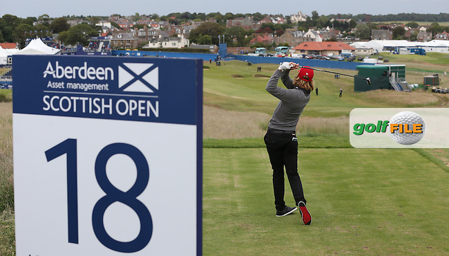 Johan Carlsson (SWE)  playing to the last during Round Three of the 2015 Aberdeen Asset Management Scottish Open, played at Gullane Golf Club, Gullane, East Lothian, Scotland. /11/07/2015/. Picture: Golffile | David Lloyd<br /> <br /> All photos usage must carry mandatory copyright credit (&copy; Golffile | David Lloyd)