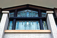 F.L. Wright: Dana House. Windows in East Wing.  Photo '78.