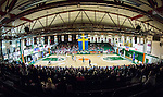 S&ouml;dert&auml;lje 2014-03-25 Basket SM-kvartsfinal 1 S&ouml;dert&auml;lje Kings - J&auml;mtland Basket :  <br /> Vy &ouml;ver T&auml;ljehallen fr&aring;n ena l&auml;ktaren under matchen<br /> (Foto: Kenta J&ouml;nsson) Nyckelord:  S&ouml;dert&auml;lje Kings SBBK J&auml;mtland Basket SM Kvartsfinal Kvart T&auml;ljehallen inomhus interi&ouml;r interior supporter fans publik supporters