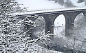 21/01/13..After heavy overnight snow, walkers brave the snow at Monsal Head, in The Peak District, near Bakewell, Derbyshire. ..All Rights Reserved - F Stop Press.  www.fstoppress.com. Tel: +44 (0)1335 300098.