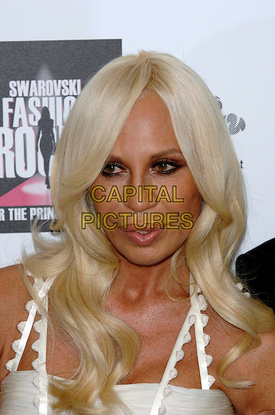 "DONATELLA VERSACE.""Swarovski Fashion Rocks"" concert in aid of The Prince's Trust, at the Royal Albert Hall.18th October 2007  London, England.portrait headshot.CAP/PL.©Phil Loftus/Capital Pictures"