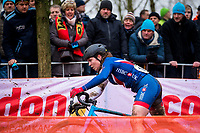 Picture by Alex Whitehead/SWpix.com - 03/02/2018 - Cycling - 2018 UCI Cyclo-Cross World Championships - Valkenburg, The Netherlands - Great Britain's Harriet Harnden competes in the Women's U23 race.