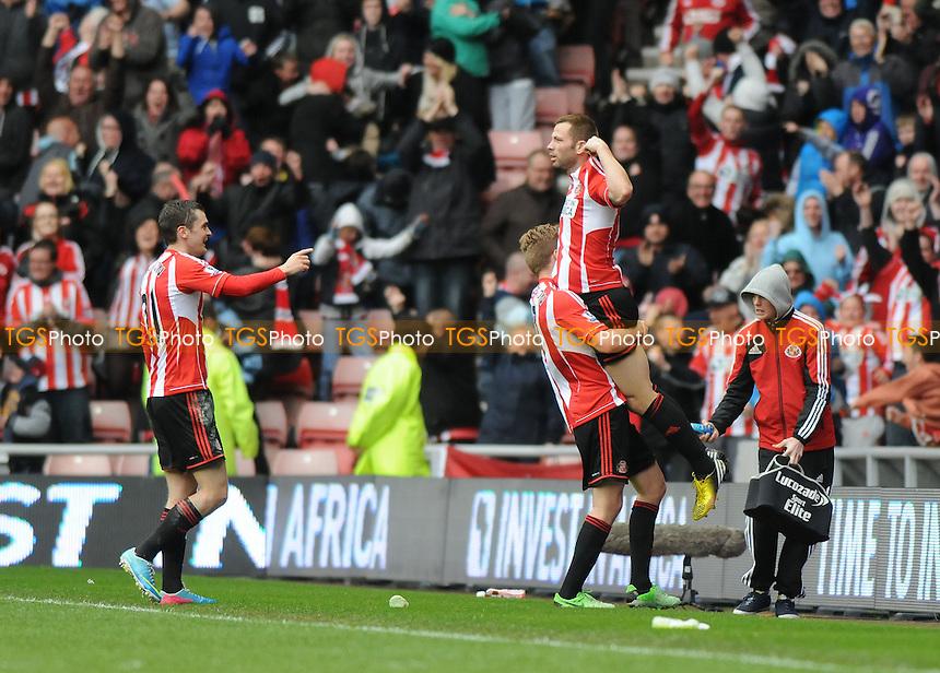 Phillip Bardsley celebrates scoring the opener for Sunderland - Sunderland vs Southampton - Barclays Premier League Football at The Stadium of Light, Sunderland, Tyne & Wear - 12/05/13 - MANDATORY CREDIT: Steven White/TGSPHOTO - Self billing applies where appropriate - 0845 094 6026 - contact@tgsphoto.co.uk - NO UNPAID USE