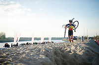 Sven Nys (BEL/Crelan-AAdrinks) dominating the race<br /> <br /> Jaarmarktcross Niel 2014
