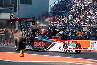 Oct 20, 2019; Ennis, TX, USA; NHRA top fuel driver Billy Torrence during the Fall Nationals at the Texas Motorplex. Mandatory Credit: Mark J. Rebilas-USA TODAY Sports