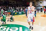 S&ouml;dert&auml;lje 2015-04-10 Basket SM-Semifinal 5 S&ouml;dert&auml;lje Kings - Sundsvall Dragons :  <br /> Sundsvall Dragons Jakob Sigurdarson deppar efter matchen mellan S&ouml;dert&auml;lje Kings och Sundsvall Dragons <br /> (Foto: Kenta J&ouml;nsson) Nyckelord:  S&ouml;dert&auml;lje Kings SBBK T&auml;ljehallen Sundsvall Dragons depp besviken besvikelse sorg ledsen deppig nedst&auml;md uppgiven sad disappointment disappointed dejected