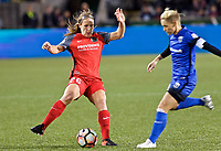 Portland, OR - Saturday May 06, 2017: Mallory Weber during a regular season National Women's Soccer League (NWSL) match between the Portland Thorns FC and the Chicago Red Stars at Providence Park.