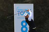 Oscar Lengden (SWE) on the 8th tee during Round 2 of the Challenge Tour Grand Final 2019 at Club de Golf Alcanada, Port d'Alcúdia, Mallorca, Spain on Friday 8th November 2019.<br /> Picture:  Thos Caffrey / Golffile<br /> <br /> All photo usage must carry mandatory copyright credit (© Golffile | Thos Caffrey)