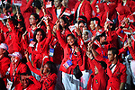 Indonesia Delegation (IDN), <br /> AUGUST 18, 2018 - Opening Ceremony : Opening Ceremony at Gelora Bung Karno Main Stadium during the 2018 Jakarta Palembang Asian Games in Jakarta, Indonesia. (Photo by MATSUO.K/AFLO SPORT)