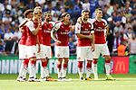 The Arsenal penalty takers during the The FA Community Shield match at Wembley Stadium, London. Picture date 6th August 2017. Picture credit should read: Charlie Forgham-Bailey/Sportimage