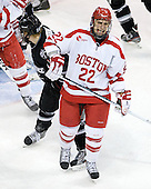 Ross Gaudet (BU - 22) - The Boston University Terriers defeated the visiting Providence College Friars 6-1 on Friday, January 20, 2012, at Agganis Arena in Boston, Massachusetts.