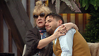 Amanda Barrie, Andrew Brady<br /> Celebrity Big Brother 2018 - Day 10<br /> *Editorial Use Only*<br /> CAP/KFS<br /> Image supplied by Capital Pictures