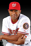 25 February 2007: Washington Nationals outfielder George Lombard poses for his Photo Day portrait at Space Coast Stadium in Viera, Florida.<br /> <br /> Mandatory Photo Credit: Ed Wolfstein Photo<br /> <br /> Note: This image is available in a RAW (NEF) File Format - contact Photographer.