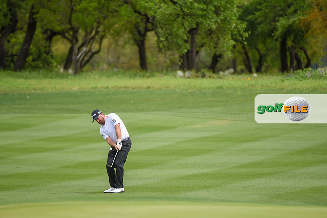 Graeme McDowell (NIR) hits his approach shot on 1 during day 4 of the Valero Texas Open, at the TPC San Antonio Oaks Course, San Antonio, Texas, USA. 4/7/2019.<br /> Picture: Golffile   Ken Murray<br /> <br /> <br /> All photo usage must carry mandatory copyright credit (© Golffile   Ken Murray)