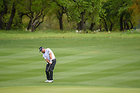 Graeme McDowell (NIR) hits his approach shot on 1 during day 4 of the Valero Texas Open, at the TPC San Antonio Oaks Course, San Antonio, Texas, USA. 4/7/2019.<br /> Picture: Golffile | Ken Murray<br /> <br /> <br /> All photo usage must carry mandatory copyright credit (© Golffile | Ken Murray)