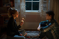 Happy Death Day (2017) <br /> Jessica Rothe &amp; Israel Broussard<br /> *Filmstill - Editorial Use Only*<br /> CAP/MFS<br /> Image supplied by Capital Pictures