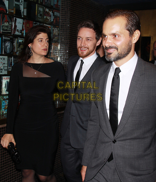 NEW YORK, NY - SEPTEMBER 10: Ned Benson and James McAvoy at the screening of the Weinstein Company's The Disappearance of Eleanor Rigby at the  Landmark Sunshine Cinema in New York City on September 10, 2014. <br /> CAP/MPI/RW<br /> &copy;RW/ MediaPunch/Capital Pictures