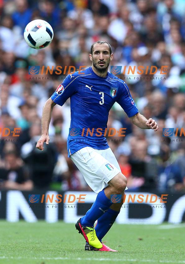 Giorgio Chiellini Italy<br />Toulouse 17-06-2016 Stade Velodrome Footballl Euro2016 Italy - Sweden  / Italia - Svezia Group Stage Group E. Foto Matteo Ciambelli / Insidefoto