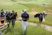 June 14th 2017, Erin, Wisconsin, USA; Sergio Garcia signs autographs as he walks to the 4th tee during the practice round for the 117th US Open on June 14, 2017 at Erin Hills in Erin, Wisconsin