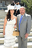 Bo Dietl and fiancee Margo Urban attend the Central Park Conservancy Hat Luncheon on May 2, 2018 in the Conservatory Garden in New York, New York, USA.<br /> <br /> photo by Robin Platzer/Twin Images<br />  <br /> phone number 212-935-0770