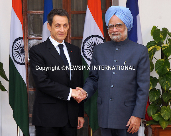 "PRESIDENT NICOLAS SARKOZY VISITS INDIA.President Nicolas Sarkozy of France and Primme Minister Dr. Manmohan Singh sign Nuclear Agreement, New Delhi_06/12/2010..Photo Credit: ©Meena_Newspix International..**ALL FEES PAYABLE TO: ""NEWSPIX INTERNATIONAL""**..PHOTO CREDIT MANDATORY!!: NEWSPIX INTERNATIONAL..IMMEDIATE CONFIRMATION OF USAGE REQUIRED:.Newspix International, 31 Chinnery Hill, Bishop's Stortford, ENGLAND CM23 3PS.Tel:+441279 324672  ; Fax: +441279656877.Mobile:  0777568 1153.e-mail: info@newspixinternational.co.uk."