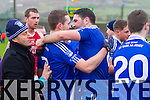 South Kerry Champions - St Mary's Brian Curran & Bryan Sheehan(Capt) celebrate after the final whistle of the South Kerry Final on Saturday.