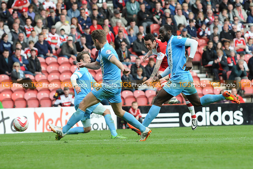 Lee Tomlin of Middlesbrough scores the equaliser for Middlesbrough - Middlesbrough vs Barnsley - Sky Bet Championship Football at the Riverside Stadium, Middlesbrough - 26/04/14 - MANDATORY CREDIT: Steven White/TGSPHOTO - Self billing applies where appropriate - 0845 094 6026 - contact@tgsphoto.co.uk - NO UNPAID USE