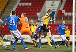 St Johnstone v Livingston.....30.11.13     Scottish Cup 4th Round<br /> Sanil Jahic scores St Johnstone's second goal<br /> Picture by Graeme Hart.<br /> Copyright Perthshire Picture Agency<br /> Tel: 01738 623350  Mobile: 07990 594431