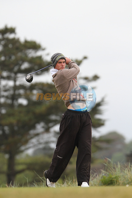 Conor O'Rourke (Naas/NUIM) on the 11th Tee, Day 2 at the East of Ireland Amateur Open Championship 2011 in Co.Louth Golf Club....(Photo credit should read Jenny Matthews www.newsfile.ie)....This Picture has been sent you under the conditions enclosed by:.Newsfile Ltd..The Studio,.Millmount Abbey,.Drogheda,.Co Meath..Ireland..Tel: +353(0)41-9871240.Fax: +353(0)41-9871260.GSM: +353(0)86-2500958.email: pictures@newsfile.ie.www.newsfile.ie.