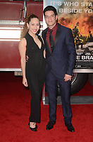 WESTWARD, CA - OCTOBER 8: Helene Britany, Louis C. Giordano at the Only The Brave World Premiere at the Village Theater in Westwood, California on October 8, 2017. Credit: David Edwards/MediaPunch